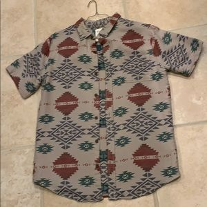 On the byas button up shirt M